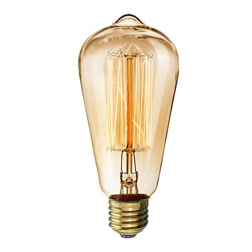 Kingso e27 st64 40w ampoule edison filament de tungst ne lampe incandescence classique vintage - Lampe a incandescence classique ...