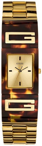 GUESS Iconic Status Cuff Watch - Tortoise