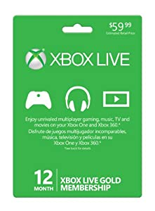 Xbox 360 Live Subscription Gold Card from Microsoft Software