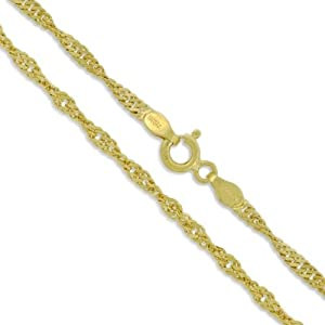 Sterling silver 22k gold plated singapore rope for Sell gold jewelry seattle