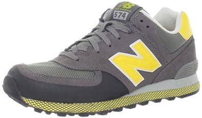 New Balance Men's ML574 Winter Elements Running Shoe,Grey/Yellow,7 D US