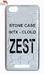 Vcare Shoppe Semi Transparent Back case cover for Intex Cloud Zest