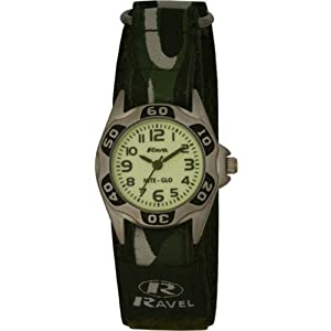 Ravel Kids Velcro Glow in the Dark Watch R1704.11