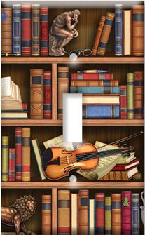 Images for Books In Library Switch Plate - Outlet Cover