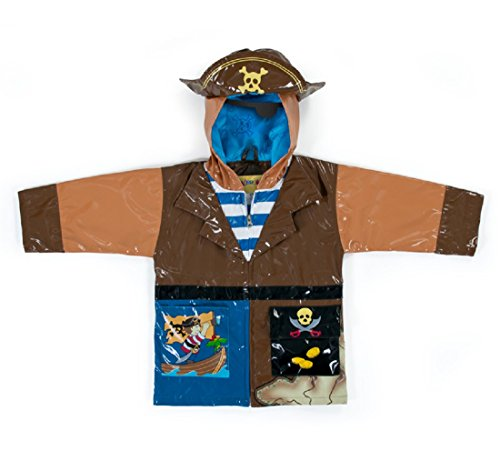 Kidorable Pirate Rain Coat - Size 3t