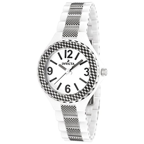 Invicta Women's 1158 Ceramics Collection White Dial Ceramic Watch