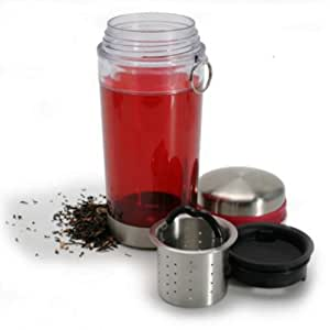 Danesco Tea Tumbler with Filter, Red