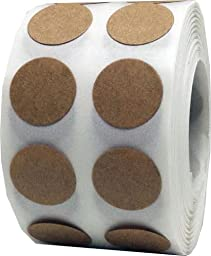 1,000 Brown Natural Kraft Paper Dot Stickers 1/2 Inch Round Circle Color Coding Labels