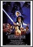 Return of the Jedi Star Wars 24x36 Wood Framed Poster Movie Art Print