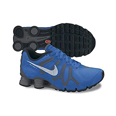 Nike Men's NIKE NIKE SHOX TURBO+ 13 RUNNING SHOES 8.5 Men US (SGNL BL/MTLLC SLVR/DRK GRY/BLK)