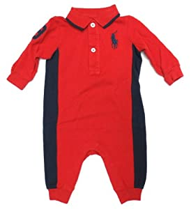 Ralph Lauren Layette Boy's Big Pony Polo Coverall
