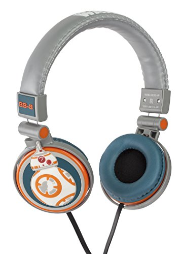 Star Wars Cuffie Stereo, Figura BB-8, 3.5 mm Jack, Arancione/Grigio