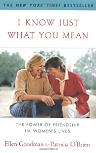 I Know Just What You Mean: The Power of Friendship in Women's Lives ( York) by Ellen Goodman