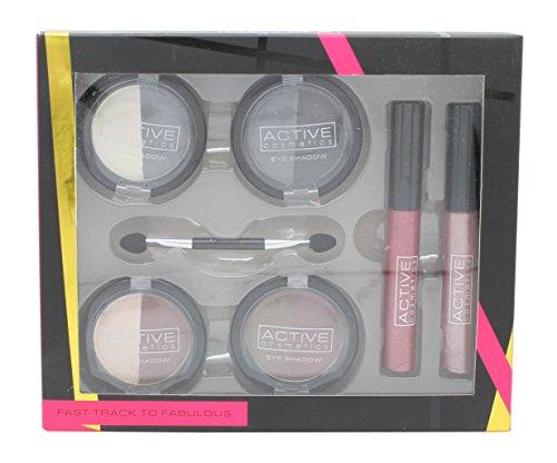 Active Cosmetics Fast Track To Fabulous Confezione Regalo 4 x 3.5g Duo Ombretti + 2 x 5.5ml Lucidala
