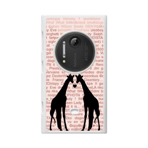 Giraffe Couple Custom 100% Plastic Case For Nokia Lumia 1020