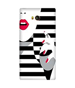 Black And White Stripes Gionee Elife E8 Case