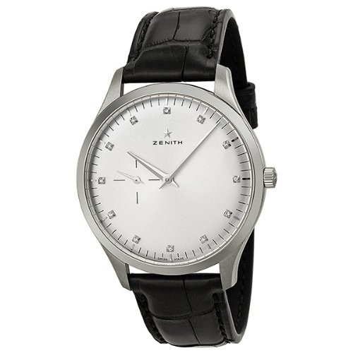 Zenith Men's 03.2010.681/02.C493 Elite Silver Sunray Diamond Dial Watch