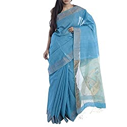 Kiara Crafts Cotton Saree (kc-005_Blue)