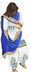 Lakshmi Fashion Creation Women's Cotton Dress Material ( White )