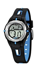 Calypso - K5506/4 - Montre Garçons - Quartz Digitale - Eclairage / Chronomètre / Temps intermédiaires / Alarme - Bracelet Plastique Multicolore