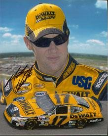 Autographed Matt Kenseth Photograph - 8x10 - Autographed NASCAR Photos by Sports Memorabilia