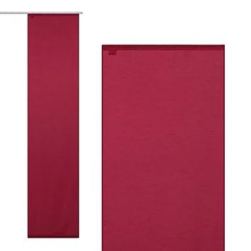 rideau coulissant panneau japonais alexandra 60x245cm rouge cuisine rouge cuisine. Black Bedroom Furniture Sets. Home Design Ideas