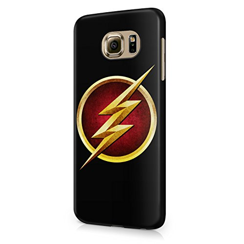 The Flash Logo Grunge Justice League Superhero Comics Hard Snap-On Protective Case Cover For Samsung Galaxy S6 (Not Edge)