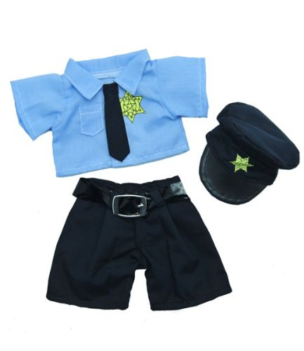 "Policeman Outfit Fits Most 8""-10"" Webkinz, Shining Star and 8""-10"" Make Your Own Stuffed Animals and Build-A-Bear"