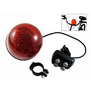 6 Led 4 Sounds Police Bicycle Light Trumpet Bike Horn Bell