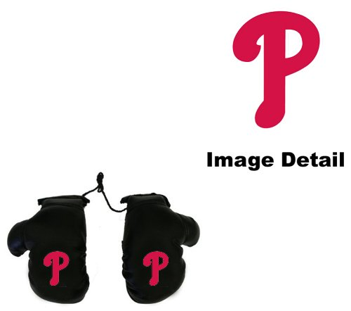 Philadelphia Phillies Car Truck SUV Rearview Mirror Mini Small Boxing Gloves