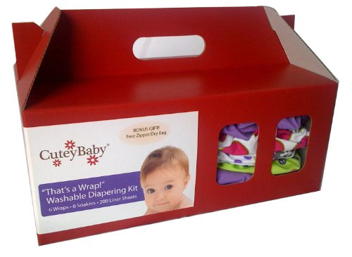 Cuteybaby 6 Pack That'S A Wrap! Diapering Kit, Boy, Medium front-905738