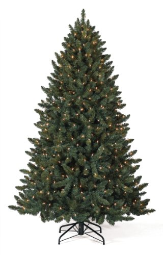 Christmas Tree Market Balsam Spruce Artificial Christmas Tree, 4 Feet, Multi Lights