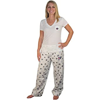 Buy College Concepts Columbus Blue Jackets Ladies Broadway Flannel Pant & Tee Set by Concept Sports