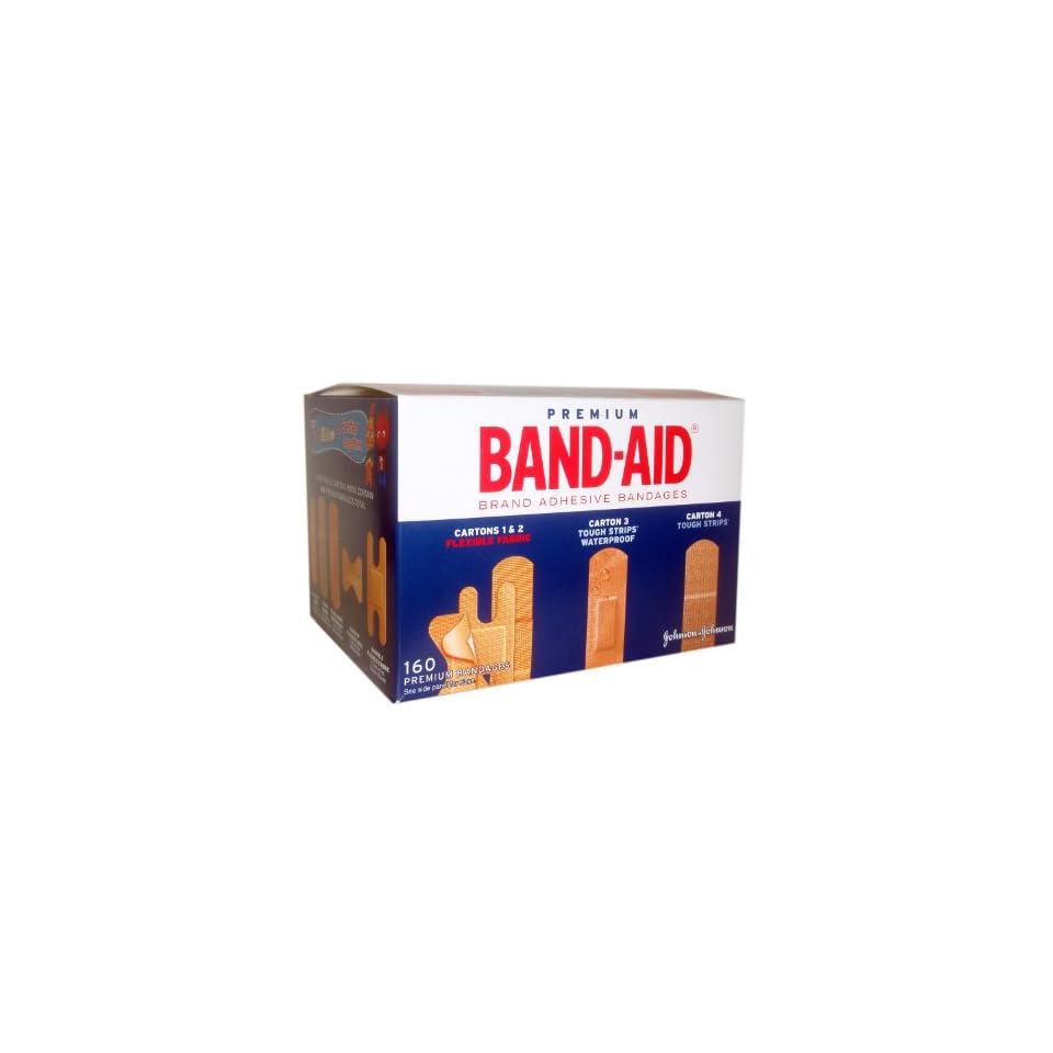Premium Band Aid Brand Adhesive Bandages 160 Assorted