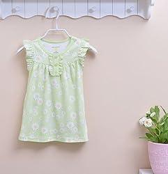 Baby Girls Dress Sleeveless 100% Cotton Summer Girls Dress 6m to 24m by Go Baby Go