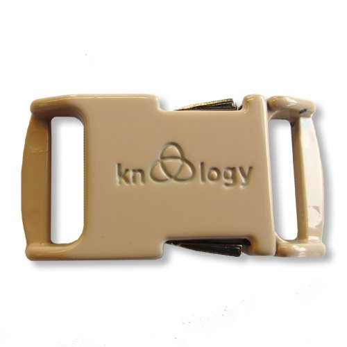 Knottology 1/2 Inch Spring Assisted Full Metal Nito Buckles (Tan)