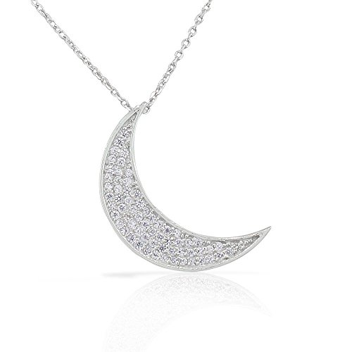 925-sterling-silver-white-cz-womens-crescent-half-moon-pendant-necklace