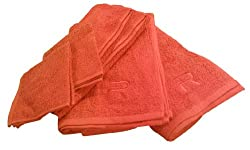 RAMPAGE 100-Percent Cotton 6-Piece Towel Set, Tangerine