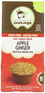 Wholesome Cravings Gluten Free Protein Snack Cake Mix, Apple Ginger, 4.75 Ounce
