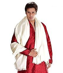 Weavers Villa Cream Cashmere Lohi, Shawls for Men