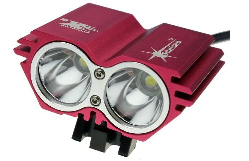 Solarstorm @ Bike Light 2*Cree Xm-L U2 4 Modes Led Dual Head Bicycle Light/Bicycle Front Light (Red)