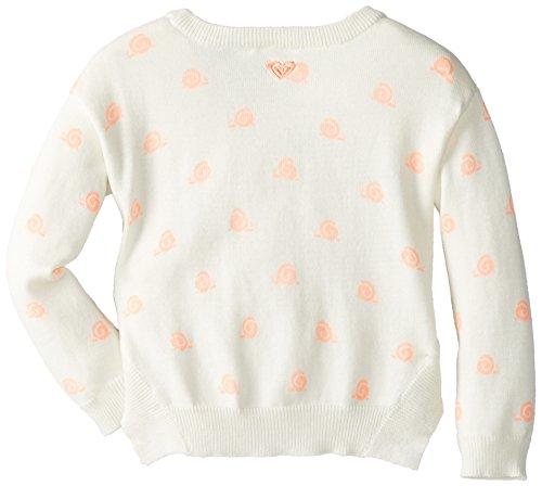 Roxy Little Girls' Layer Cake Woven Sweater 1, Sea Spray Snail Print, 5