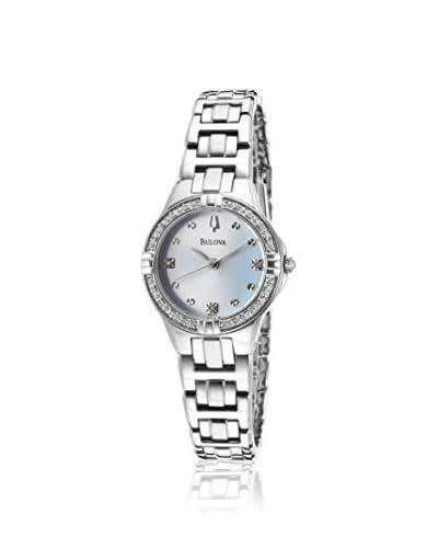 Bulova Women BUL-96R172 Silver-Tone/Light Blue Stainless Steel Watch
