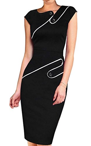 Colyanda-Womens-Vintage-Wear-To-Work-Cap-Sleeve-Business-Pencil-Sheath-Dress