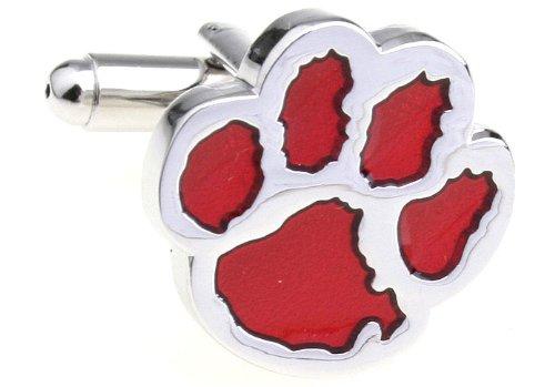 MFYS Men's Jewelry Steel Bear Paw Novelty Cufflinks