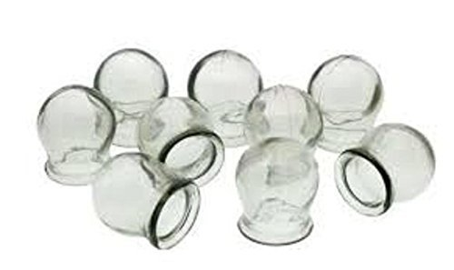 CHINESE MASSAGE THERAPY. SET OF 10 GLASS MASSAGE CUPS. CUPPING JARS, USSR