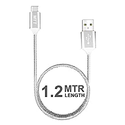 MTT® 1.2m Nylon Braided Tangle Free USB Type C 2.0 to USB A 2.0 for OnePlus Two , Nexus 6P , Nexus 5x , OnePlus3 other Type C Smartphones (Silver)