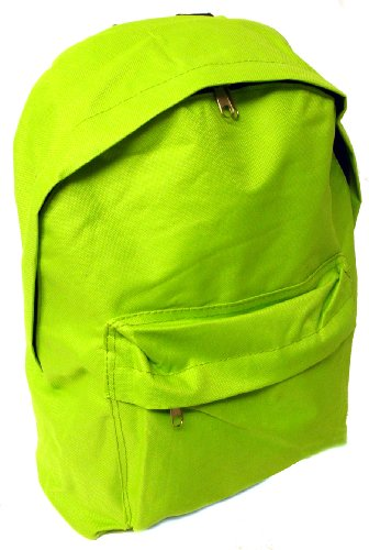 Unisex Green Zip Round Backpack With Twin Handles And Adjustable Strap - Green - UK 1-1