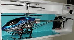 3.5chジャイロ搭載96cm超大型ラジコンヘリコプターブルー岡村製作所ジャイロ搭載