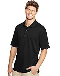 Champion Double Dry Men\'s Solid-Color Polo Shirt - X-Large, Black
